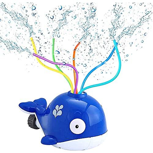 BESTZY Sprinkler für Kinder, Wassersprinkler Garten Kinder Wasserspielzeug für Gartenschlauch Sprinkler Rasensprenger Gartensprenger für Outdoor Garten,Wasserspielzeug (Blau)