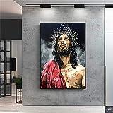 EDGIFT2 Abstrakte Leinwandbilder von Jesus an der Wand