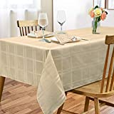 ARICHOMY Tablecloth Polyester Table Cloth Spill Proof Dust-Proof Wrinkle Resistant Table Cover for Kitchen Dining Tabletop Decoration