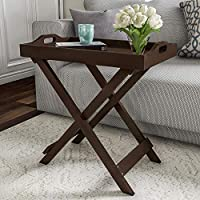 SKAFA Home Decorative Display and Accent Table Center Table Wooden 60X31X46 cm (Brown)