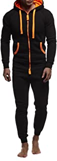 Leif Nelson Herren Overall Jumpsuit Onesie Trainingsanzug Jogginghose Fitness Bekleidung LN8154