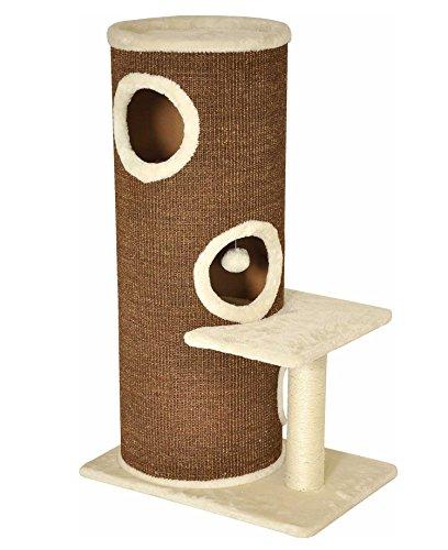 nanook Casimir Kratztonne - XL Katzenhöhle, standfest mit 3 Etagen, seitlicher Sitzplatz mit robustem Sisalstamm, Katzentonne Kratzmöbel, Höhe: 102 cm