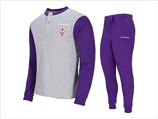 Fiorentina Pigiama Interlock Ufficiale Uomo Cotone