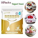 10 Confezioni di lievito di Yogurt, probiotico Yogurt Starer lievito lattobacillo fermentazione in Polvere Fai-da-Te Fatto in casa-10 g / 1 Pacco