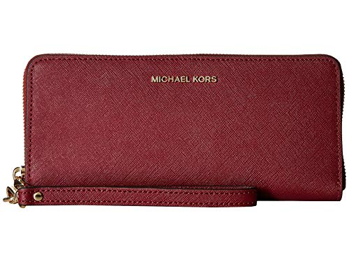 Michael Kors 32S5GTVE9L Jet Set Travel Damen Geldbörse Brieftasche Portemonnaie Clutch Handgelenktasche (Mulberry)