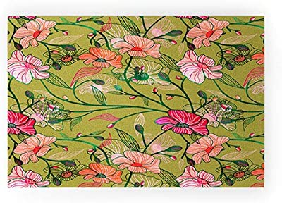 """Society6 83 Oranges Twinning Welcome Mat, 30"""" x 20"""", Green"""