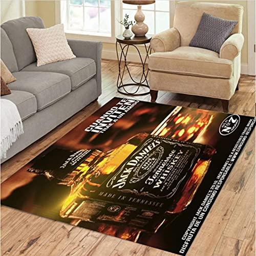 DHDHH Alfombras de Whisky embotelladas, decoración, salón, Dormitorio, salón, Mesa de té, área, Alfombra, Vino y café, Alfombra, 140x200cm