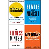 The Miracle Morning, Rewire Your Mindset, The Fitness Mindset, Meltdown 4 Books Collection Set