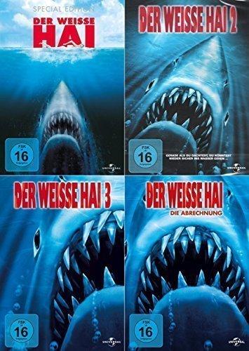 Der weiße Hai 1-4 (4 DVDs)