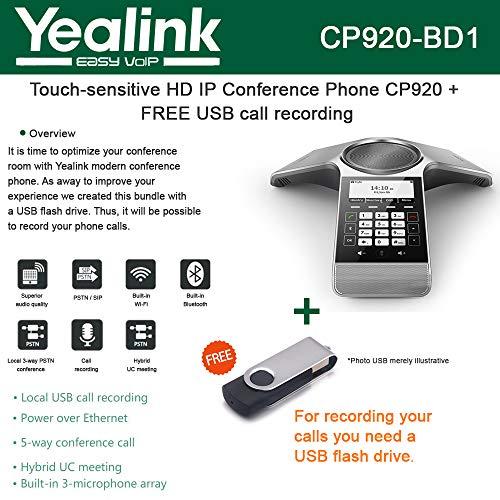 مؤتمر Yealink الهاتف CP920 حساسية عالية HD