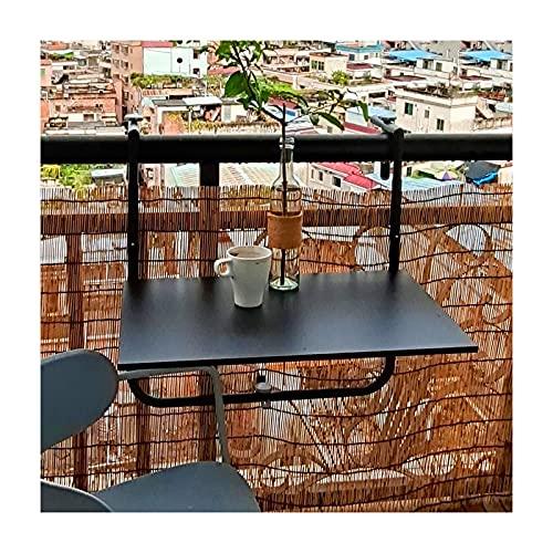 LWZ Mesa de barandilla de balcón Colgante Plegable, Mesa de Comedor al Aire Libre, Mesa de Escritura para computadora, Mesa Flotante, Barra de Bar para el hogar, Negro