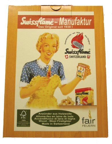 SWISSFLAME Bioanzünder Swissflame3 Pack Holzwolle Wachs