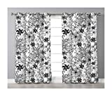 Goods247 Blackout Curtains,Grommets Panels Printed Curtains Living Room (Set of 2 Panels,55 84 Inch Length),Floral