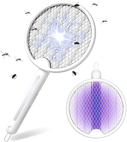 FLASHVIN Raqueta Matamoscas Electrica , 2 in 1 Lampara Antimosquitos, Mata Mosquitos...