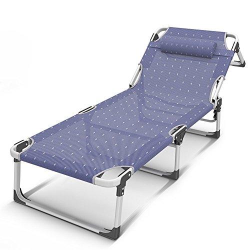 QIDI Chaise Longue Pliable Métal 72 * 68cm