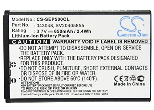 Cameron Sino 3.7V Li-ion 650mAh Rechargeable Cordless Phone Battery Replacement for Swissvoice 043048 SV20405855 Home Handset Telephone