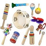 パーカッションセット 子供用楽器セット 10点セット おもちゃ インテリジェンス開発 クリスマス 誕生日 プレゼント hjuns-Wu