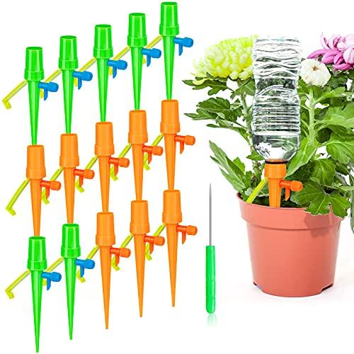 MOOB Irrigazione a Goccia,Regolabile Strumento di Irrigazione Automatico a Goccia Dispositivo Sistema, Automatica Dispositivo Irrigatore Domestica per Piante da Interni Esterni(15Pezzi)