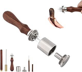 Cigar Punch Enhancer Tool & Nubber, Sangle Sopffy Cigar Draw with Wooden Handle | Cigar Poker for Piercing, Make Your Every Shot More Enjorable
