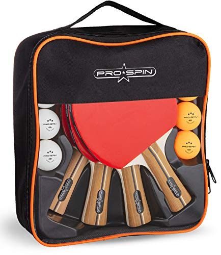 PRO SPIN Table Tennis Set with Premium Table Tennis Bats and Balls | Includes High-Performance Bats,...