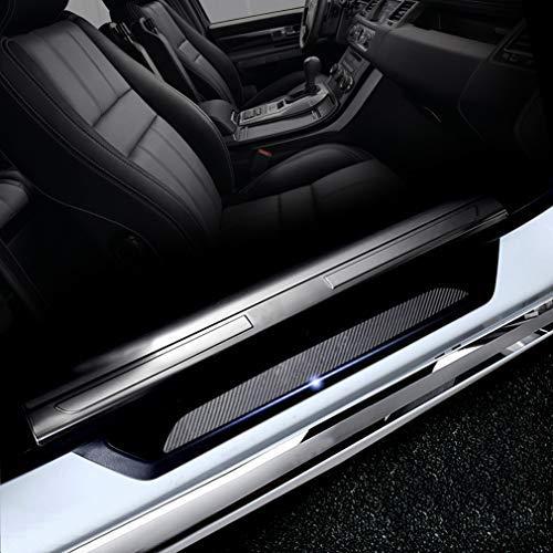 Compatible con E34 E39 E60 E61 F07 GT F10 F11 F18 Protectores de Umbral de la Puerta del Coche 4D Vinilo Fibra de Carbono Adhesiva Pegatinas 4 Piezas
