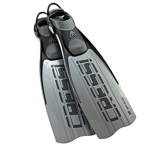 Cressi Powerful Kick Open Heel Scuba Diving Fins with Bungee Strap | Ara EBS: Made in Italy