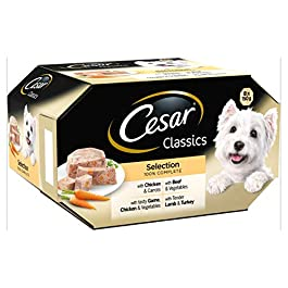 Cesar Classics – Wet Dog Food for Adult Dogs, Mixed Selection in Loaf, 24 x 150 g, 24 Trays