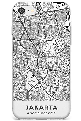 Case Warehouse Karte Von Jakarta, Indonesien Schlank Handykette Hülle für iPhone 7, for iPhone 8 | Clear Silikon TPU Schutz Leicht Ultra dünn Hülle Muster Printed | Reise Fernweh Europa Stadt Streets