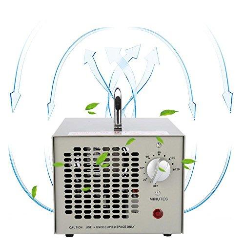 Generador Ozono 3500mg/h multifunción portátil para Aire Ajustable Temporizador Generador de Ozono Un Purificador de Aire Que Mantiene el Ritmo Contigo (EU)