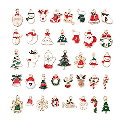 nuoshen 76個 チャーム アクセサリー クリスマス DIY ネックレスイヤリングペンダントジュエリー用 オーナメント ハンドメイド 贈り物