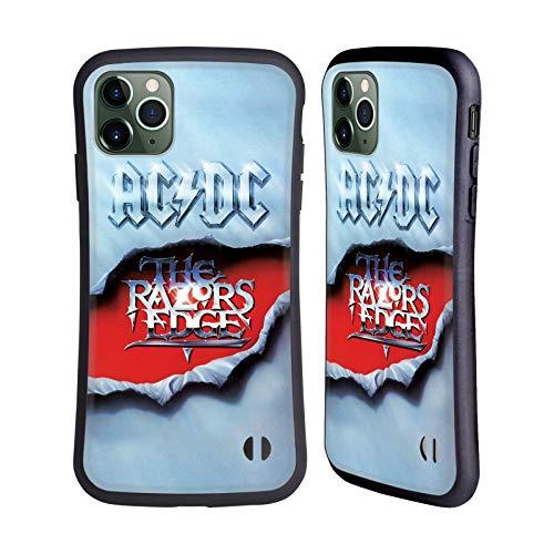 Officiële AC/DC ACDC De Rand van de scheermessen Album Kunst Hybrid Case Compatibel voor Apple iPhone 11 Pro Max