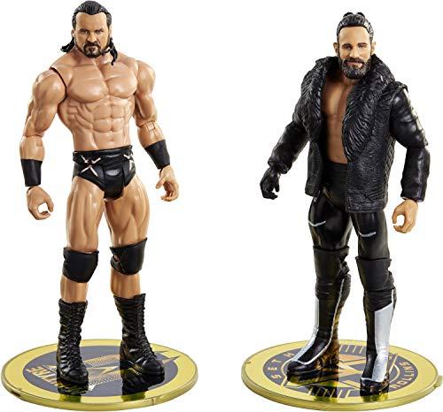 WWE Serie Campeonato Pack 2 figuras Seth Rollins vs Drew McIntyre, muñecos articulados de juguete con accesorios (Mattel GVJ20)