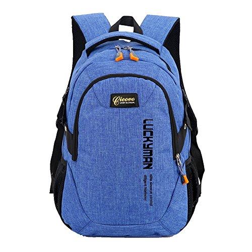 Unisex Rucksack Campus - Cieovo Schulrucksack Kinderrucksack Outdoor Freizeit Schultaschen Blau