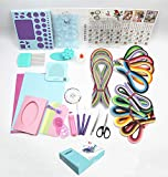 Quilling Kit with 1860 Paper Strips 39cm/54cm and Quilling Tools Like Quilling Pen Slotted Tool Paper Rolling Electric Pen Template Board Quilling DIY Tool Grid Guide Paper Design Drawings Scissors