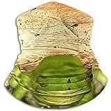 Gjiesh Froggy Heaven Calentador de cuello Cubierta de cuello Tubo de cuello sin polvo Antiestático Esquí de cara Bufanda Calor Media máscara para hombres Mujeres