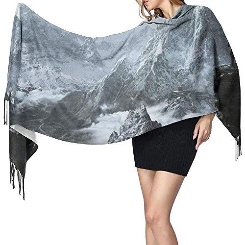 Uridy Schal Schal Wraps Cashmere Feel Schal Skyrim Mountain Großer Schal Superweiche Warme Luxuriöse Für Frauen Büroangestellte Reisen