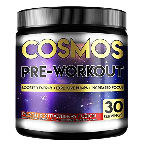 Perihelion Nutrition Cosmos Pre-Workout 30 Servings 330grams Energy Drink with Caffeine + Creatine (Peach & Strawberry)