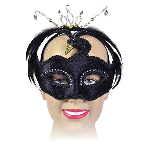 Black Feather Swan Mask Masquerade Fancy Dress (disfraz)