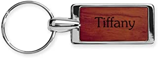 Rosewood Key Ring Keychain Laser Engraved Various Names & Saying Choices