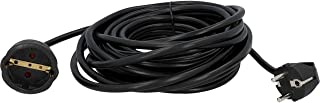 UNITEC Verlängerungskabel 10 m, Schuko-Verlängerung H05VV-F 3G1,5 mm², belastbar bis 3.500 W und 16 A, schwarz