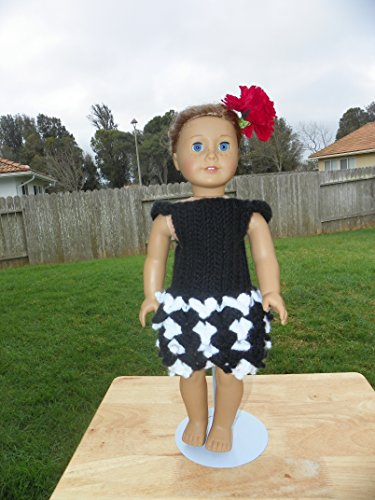 18 Inch Doll Crochet Dress Pattern Worsted Weight Fits American Girl Doll Journey Girl My Life Our Generation: Crochet Pattern (18 Inch Doll Whimsical Clothing Collection Book 1) (English Edition)