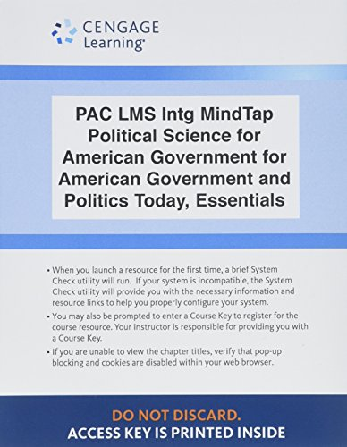 LMS Integrated MindTap Political Science, 1 term (6 months) Printed Access Card for Bardes/Shelley/Schmidt's American Go
