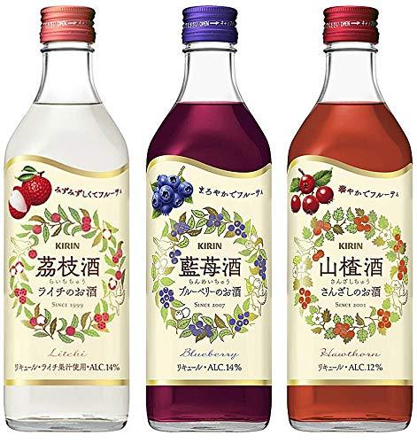 杏露酒<シンルチュウ>シリーズ 3種飲み比べセット(茘枝酒 藍苺酒 山楂酒)500ml
