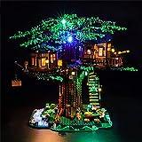 GEAMENT Kit de Luces LED para Casa del Árbol (Tree House) - Compatible con Lego Ideas 21318 (Juego Lego no Incluido) (con Instrucciones)
