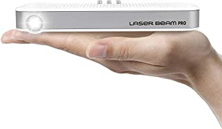Portable Mini Projector [Laser Beam Pro C200] CES Awarded Focus-Free FDA Eye Safety Class1 200 Lumens 1080P 4K Supported 768P HD Output 150