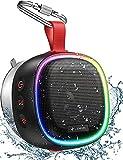 LENRUE F9 Bluetooth Speaker with RGB Lights, IPX7 Waterproof Shower Speaker, Wireless Portable Speaker with TWS, 24H Playtime, HD Sound for Pool Beach Bike Travel