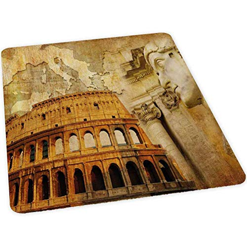 """Office Chair Mat for Hardwood and Tile Floor, Roman Empire Concept Famous Columns Sculptress Colosseum M, 30"""" x 47"""" Anti-Slip, Non-Curve, Under the Desk Mat Best for Rolling Chair and Computer Desk, O"""