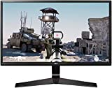 LG 24MP59G Monitor Gaming 24' Full HD LED IPS, 1920x1080, AMD FreeSync 75Hz, VGA, HDMI, Display Port 1.2, Uscita Audio, Multitasking, Flicker Safe, Nero