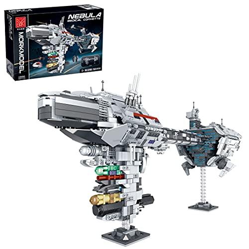 Technic Nebulon-B - Modelo de fragata, MBKE 2070 piezas Star Spaceship Kit de bloques de construcción, compatible con LEGO Star Wars UCS