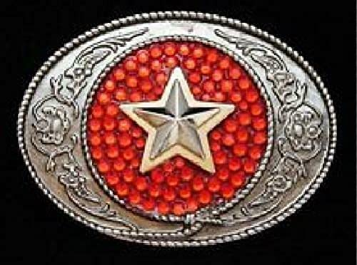 Cowboy Cowgirl Rodeo Super Special SALE held Glitter Western Buckles Star Belt Buckle Max 85% OFF